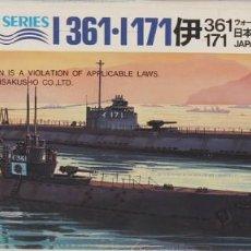 Radio Control: MAQUETA BARCO SUBMARINO I-361 & I-171, REF. 95, 1/700, HASEGAWA. Lote 183477305