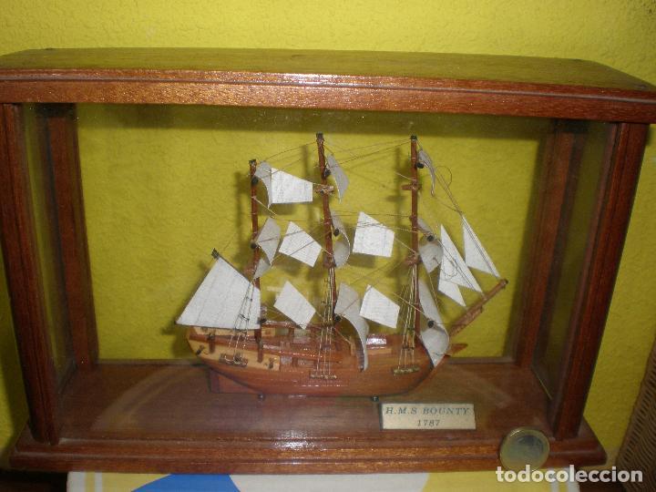 Radio Control: MAQUETA DE BARCO H.M.S BOUNTY 1787,EN URNA. - Foto 2 - 191286332