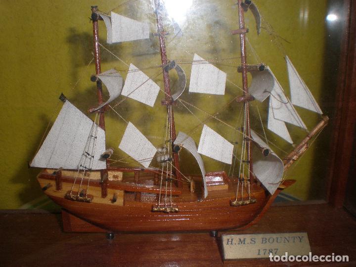 Radio Control: MAQUETA DE BARCO H.M.S BOUNTY 1787,EN URNA. - Foto 3 - 191286332