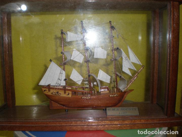 Radio Control: MAQUETA DE BARCO H.M.S BOUNTY 1787,EN URNA. - Foto 4 - 191286332