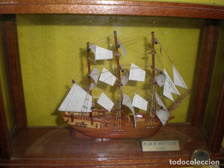 Radio Control: MAQUETA DE BARCO H.M.S BOUNTY 1787,EN URNA. - Foto 5 - 191286332