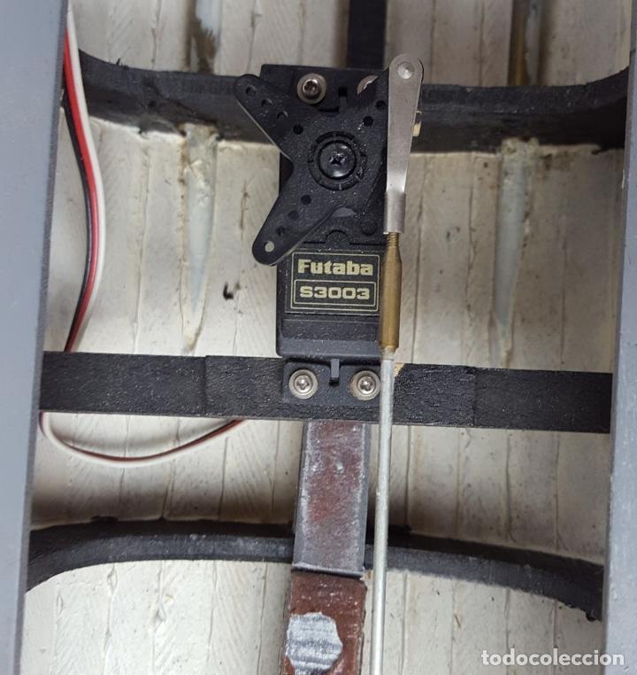 Radio Control: MAQUETA DE RADIO CONTROL. DESTRUCTOR FRANCÉS. MADERA Y RESINA PINTADA A MANO. ESPAÑA. SIGLO XX. - Foto 29 - 169984128