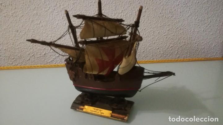 PEQUEÑO BARCO MADERA PINTA CARABELA 1492 (Juguetes - Modelismo y Radiocontrol - Radiocontrol - Barcos)