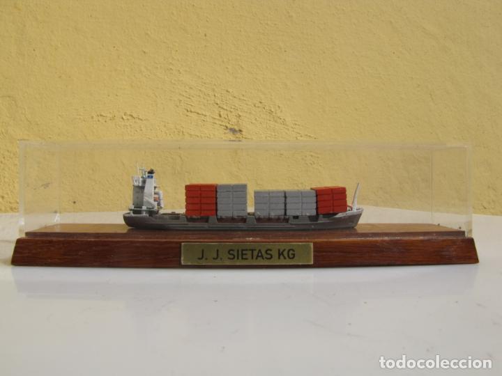 Radio Control: 3- Maqueta de barco J.J.SIETAS KG portacontenedores Conrad Schiffsmodelle. Alemania - Foto 2 - 204594397