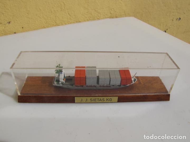 Radio Control: 3- Maqueta de barco J.J.SIETAS KG portacontenedores Conrad Schiffsmodelle. Alemania - Foto 3 - 204594397