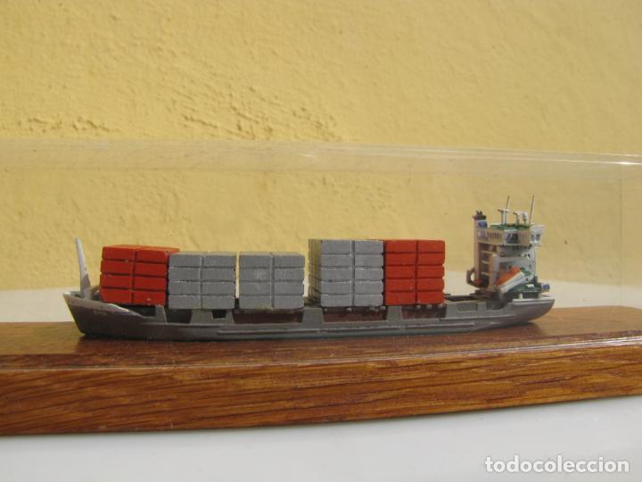 Radio Control: 3- Maqueta de barco J.J.SIETAS KG portacontenedores Conrad Schiffsmodelle. Alemania - Foto 4 - 204594397