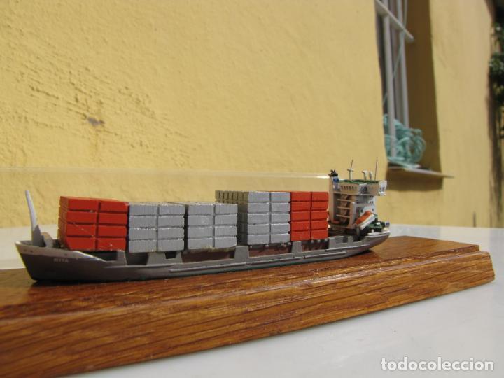 Radio Control: 3- Maqueta de barco J.J.SIETAS KG portacontenedores Conrad Schiffsmodelle. Alemania - Foto 5 - 204594397
