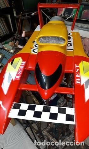Radio Control: LANCHA R/C..Turbo.125 x 62 centimetros. Gran tamaño. ( OJO ).Motor gasolina de 56 cm3.Competicion. - Foto 3 - 208857055