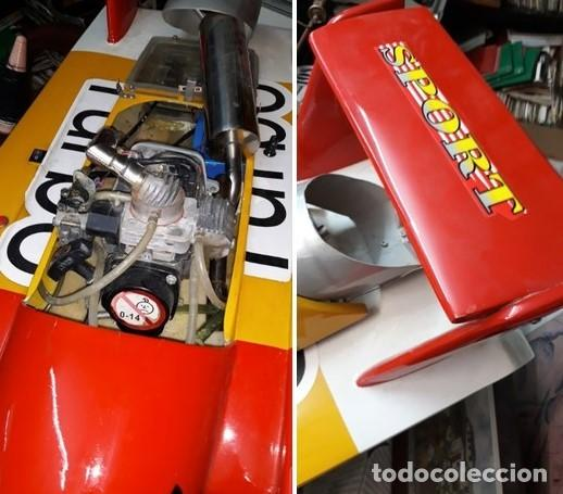 Radio Control: LANCHA R/C..Turbo.125 x 62 centimetros. Gran tamaño. ( OJO ).Motor gasolina de 56 cm3.Competicion. - Foto 5 - 208857055