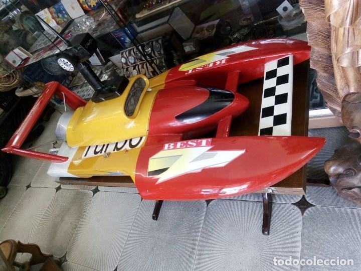 Radio Control: LANCHA R/C..Turbo.125 x 62 centimetros. Gran tamaño. ( OJO ).Motor gasolina de 56 cm3.Competicion. - Foto 15 - 208857055