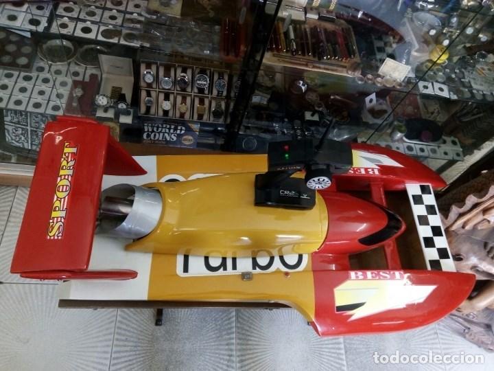 Radio Control: LANCHA R/C..Turbo.125 x 62 centimetros. Gran tamaño. ( OJO ).Motor gasolina de 56 cm3.Competicion. - Foto 16 - 208857055