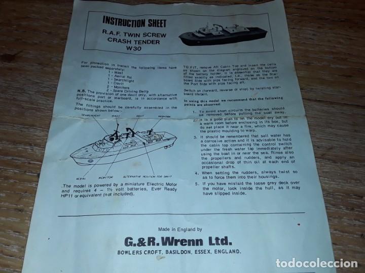 Radio Control: Lancha R.A.F. Twin Screw Crash Tender años 60, G & R, England, funcionando. - Foto 20 - 222487496