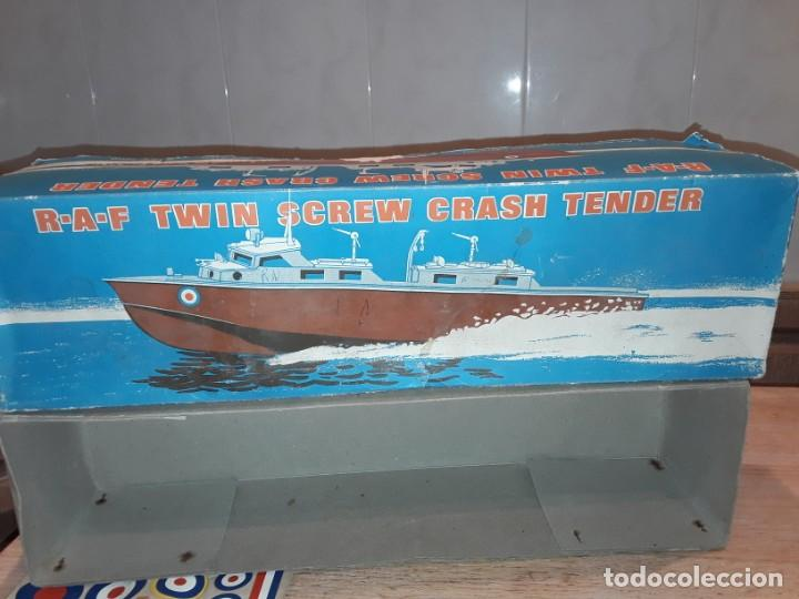 Radio Control: Lancha R.A.F. Twin Screw Crash Tender años 60, G & R, England, funcionando. - Foto 21 - 222487496