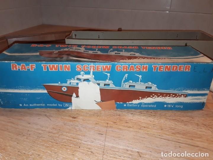 Radio Control: Lancha R.A.F. Twin Screw Crash Tender años 60, G & R, England, funcionando. - Foto 22 - 222487496