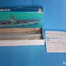 Radio Control: MAQUETA U.S.S RONALD REAGAN CV-76 DE ITALERI. NUEVO.. Lote 265390814
