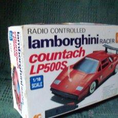 Radio Control: COCHE RADIOCONTROL LAMBORGHINI RACER COUNTACH LP500S. JUGUETE. Lote 52883856
