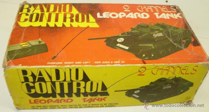 ANTIGUO TANQUE RADIO CONTROL RC GERMAN LEOPARD TANK ESCALA 1/32 OCEANIC JAPAN 1978 (Juguetes - Modelismo y Radiocontrol - Radiocontrol - Coches y Motos)