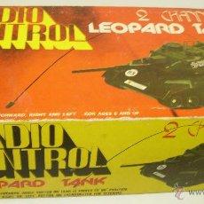 Radio Control: ANTIGUO TANQUE RADIO CONTROL RC GERMAN LEOPARD TANK ESCALA 1/32 OCEANIC JAPAN 1978. Lote 44704684
