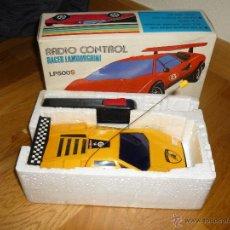 Radio Control: ANTIGUO COCHE RADIO CONTROL LAMBORGHINI COUNTACH LP500S DYNAMIC TOYS JAPON AMARILLO DIFICIL CAJA. Lote 45631158