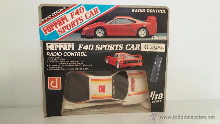 Radio Control: COCHE R.C. FERRARI F40 SPORTS CAR. ESCALA 1/18 - EN SU CAJA ORIGINAL - Foto 2 - 50482206