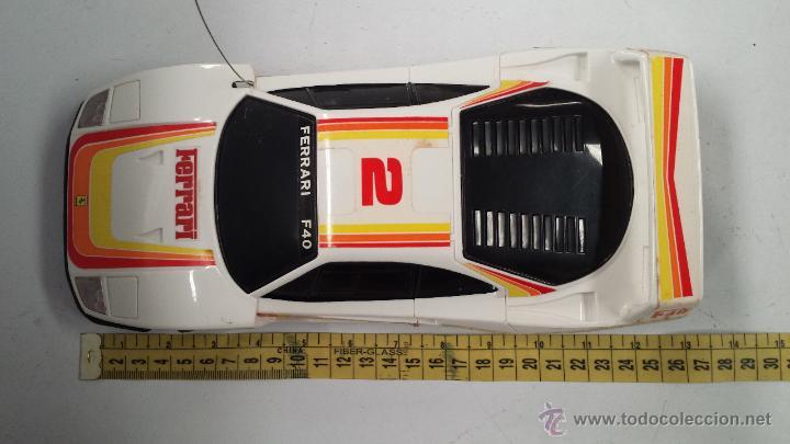 Radio Control: COCHE R.C. FERRARI F40 SPORTS CAR. ESCALA 1/18 - EN SU CAJA ORIGINAL - Foto 11 - 50482206