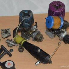 Radio Control: LOTE DE MOTORES DE GASOLINA Y ACCESORIOS - 1/10 - 1/8 - MIRA LAS FOTOGRAFIAS. Lote 60321587
