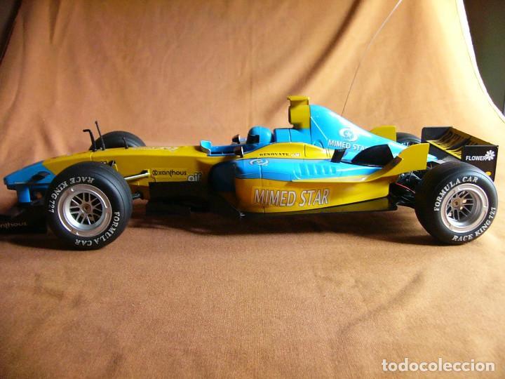 Radio Control: Coche carreras Radiocontrol F1 Formula 1 Renault Renovate 1:8 escala Race King 727 Fernando Alonso - Foto 2 - 143670952