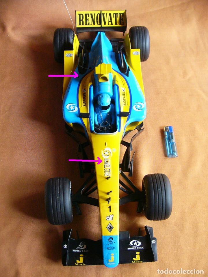 Radio Control: Coche carreras Radiocontrol F1 Formula 1 Renault Renovate 1:8 escala Race King 727 Fernando Alonso - Foto 5 - 143670952
