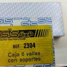 Radio Control: SCALEXTRIC EXIN STS REF 2304 CAJA VALLAS CON SOPORTES. Lote 95762776