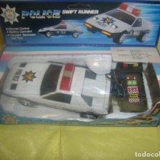 Radio Control: COCHE POLICÍA DIRIGIDO CABLE, AÑOS 80, ATOSA , LUZ Y SONIDOS, FUNCIONANDO, NUEVO.. Lote 90356788