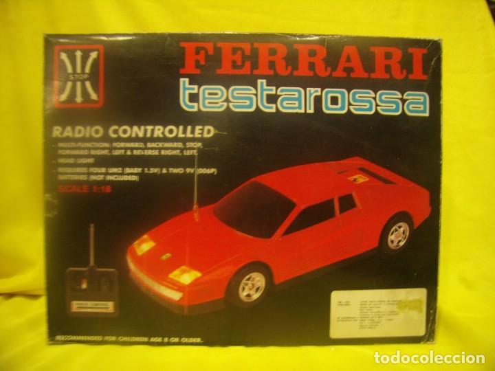 FERRARI TESTAROSSA RADIO CONTROL, AÑOS 80, ESCALA 1/18, FUNCIONANDO, NUEVO. (Juguetes - Modelismo y Radiocontrol - Radiocontrol - Coches y Motos)