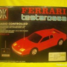 Radio Control - Ferrari Testarossa Radio Control, años 80, escala 1/18, funcionando, Nuevo. - 90358516