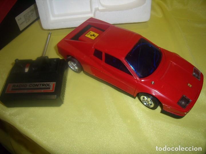 Radio Control: Ferrari Testarossa Radio Control, años 80, escala 1/18, funcionando, Nuevo. - Foto 2 - 90358516