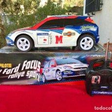 Radio Control: FORD FOCUS RALLYE SPORT WRC 2002 TURBO COCHE DIRIGIDO POR RADIO CONTROL 41 CM FUNCIONANDO BIEN. Lote 99593151