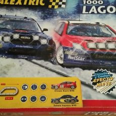 Radio Control: SCALEXTRIC RALLY 1000 LAGOS TODO NUEVO SIN USO + 5 COCHES PISTA EFECTO NIEVE!!!. Lote 43657736