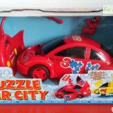 Radio Control: COCHE R/C PUZZLE CAR CITY HITARI. 90S.NUEVO EN CAJA SIN ABRIR.. Lote 108365791