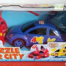 Radio Control: COCHE R/C PUZZLE CAR CITY HITARI. 90S.NUEVO EN CAJA SIN ABRIR.. Lote 108365935