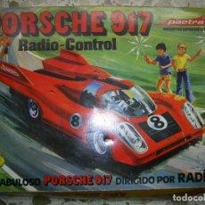 Radio Control: PORSCHE 917, RADIO CONTROL,,DE PACTRA.. CAJA ORIGINAL..NO PROBADO.VER FOTOS. LO QUE SE VE.. Lote 111851011