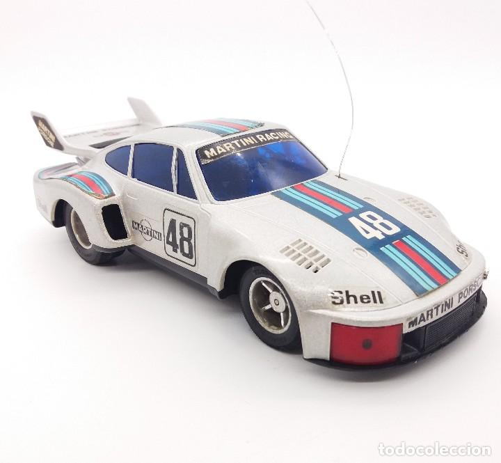 Radio Control: Porsche 935 turbo Martini 48 plata de Taiyo referencia 7904-27 - FUNCIONANDO - Foto 2 - 112330683