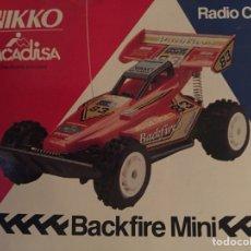 Radio Control: NIKKO BACK FIRE COCHE RC. Lote 112997032