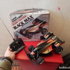 Radio Control: RARO COCHE RC RADIO CONTROL BANDAI 1987 BUGGY OFF ROAD BLACK MAX RACER SUPER TURBO POWER. Lote 113254379