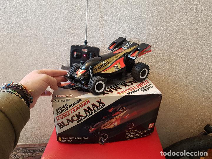 Radio Control: RARO COCHE RC RADIO CONTROL BANDAI 1987 BUGGY OFF ROAD BLACK MAX RACER SUPER TURBO POWER - Foto 3 - 113254379