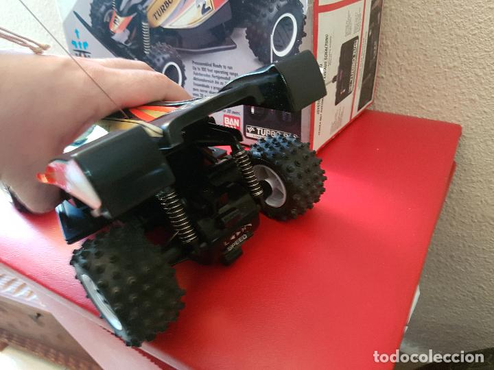 Radio Control: RARO COCHE RC RADIO CONTROL BANDAI 1987 BUGGY OFF ROAD BLACK MAX RACER SUPER TURBO POWER - Foto 5 - 113254379