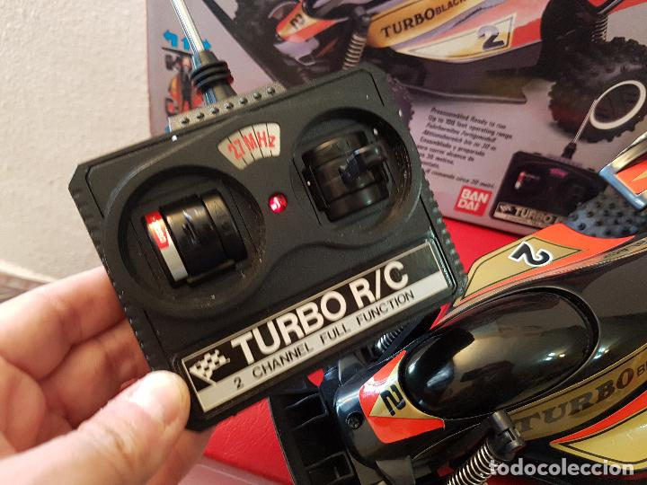 Radio Control: RARO COCHE RC RADIO CONTROL BANDAI 1987 BUGGY OFF ROAD BLACK MAX RACER SUPER TURBO POWER - Foto 6 - 113254379