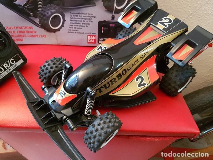 Radio Control: RARO COCHE RC RADIO CONTROL BANDAI 1987 BUGGY OFF ROAD BLACK MAX RACER SUPER TURBO POWER - Foto 7 - 113254379