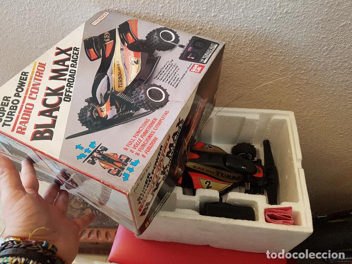 Radio Control: RARO COCHE RC RADIO CONTROL BANDAI 1987 BUGGY OFF ROAD BLACK MAX RACER SUPER TURBO POWER - Foto 8 - 113254379