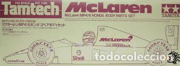 Radio Control: TAMIYA - McLAREN MP4/6 HONDA BODY PARTS SET 40029 1/14 - Foto 1 - 119492715