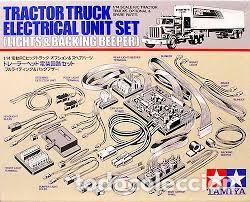 TAMIYA - TRACTOR TRUCK ELECTRICAL UNIT SET LIGHTS & BACKING BEEPER 1/14 56501 (Juguetes - Modelismo y Radiocontrol - Radiocontrol - Coches y Motos)
