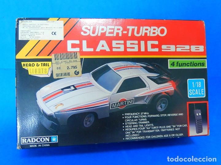 Radio Control: Porche Super Turbo Clasiic 928. Radiocontrol. Radcon. Nº 5805. Fabricado en China. Escala 1/18 - Foto 26 - 122191607