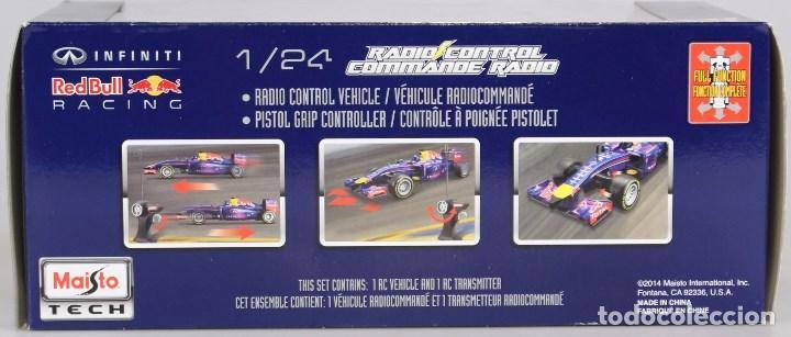 Radio Control: COCHE DE CARRERAS DE RADIO CONTROL 1/24 MAISTOTECH Maisto Tech - RC Red Bull RB10 #1 S. Vettel Azul - Foto 3 - 128167531